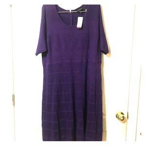 Comfortable Purple Business Dress